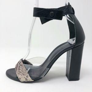 • Tibi • Edita High Heel Sandals in Snakeskin
